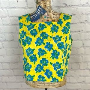Vintage Lilly Pulitzer Cropped Top Sz 8